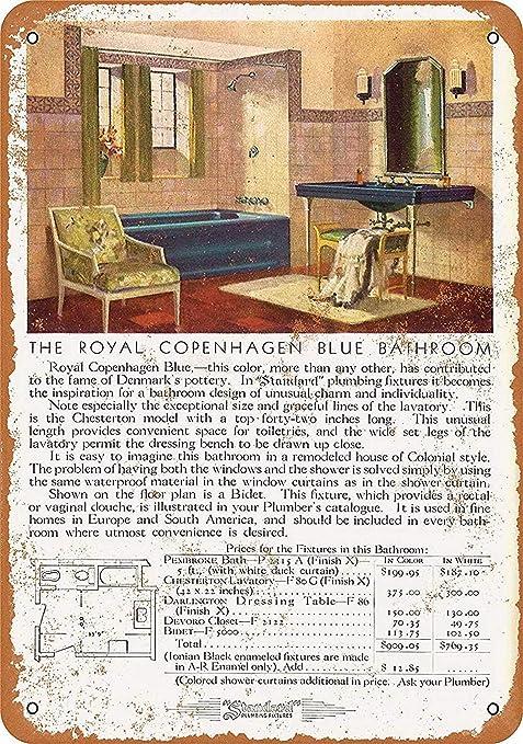 Royal Copenhagen Bathroom Póster De Pared Metal Retro Placa ...