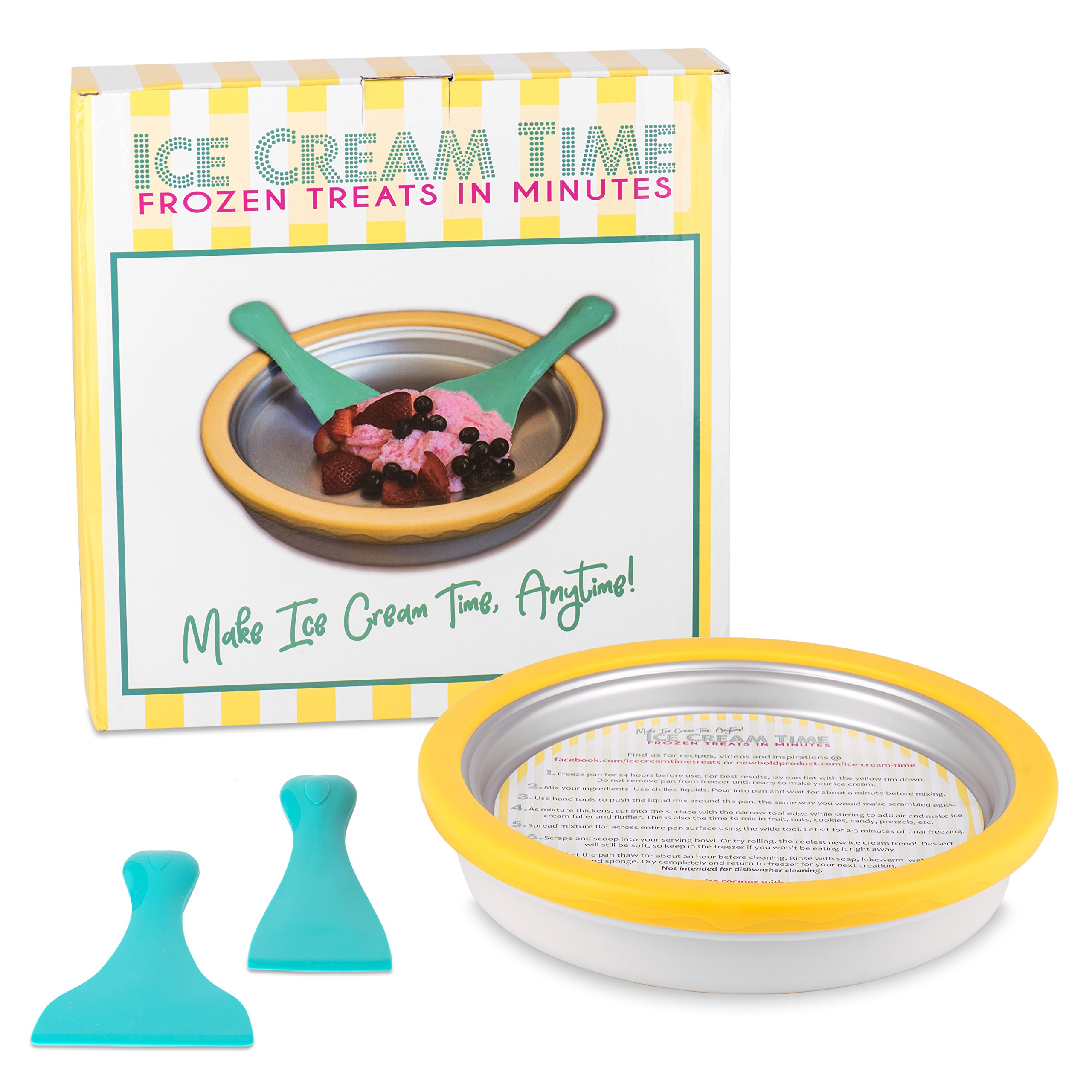 Ice Cream Time - Frozen Treats in Minutes - IceCream Maker Pan by New Bold Product (Image #1)