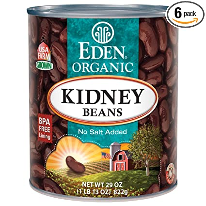 Amazon Com Eden Kidney Dark Red Beans Organic 29 Ounce Pack Of 6 Kidney Beans Produce Grocery Gourmet Food