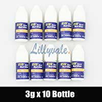 10X3g Nail Art Glue Strong Adhesive Acrylic False Tips Rhinestones Glitters