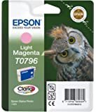 Epson T0796 Original Light Magenta red ink cartridge for Stylus Photo 1400 (Owl)