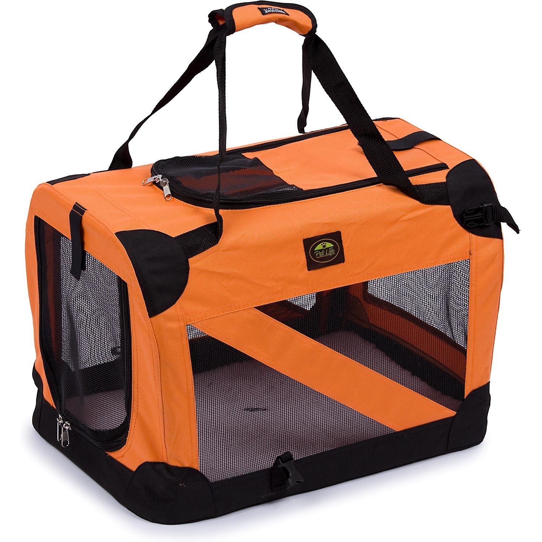 Pet Life Orange Vista View Collapsible Carrier XL by Pet Life