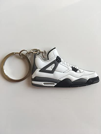 2e5cc0697dad Amazon.com   Jordan Retro 4 White Cement Sneaker Keychain Shoes Keyring AJ  23 OG   Sports   Outdoors