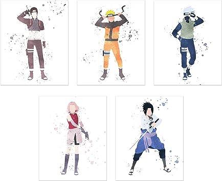 Amazon.com: Póster de Naruto Shippuden de acuarela, 5 ...