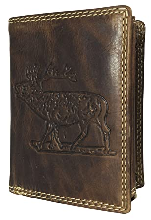 100/% Leder Büffel-Leder NEU!! doppel-Naht Geldbörse für Damen Portemonnaie