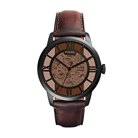 Review Fossil Men's ME3098 Analog Display Automatic Self Wind Brown Watch