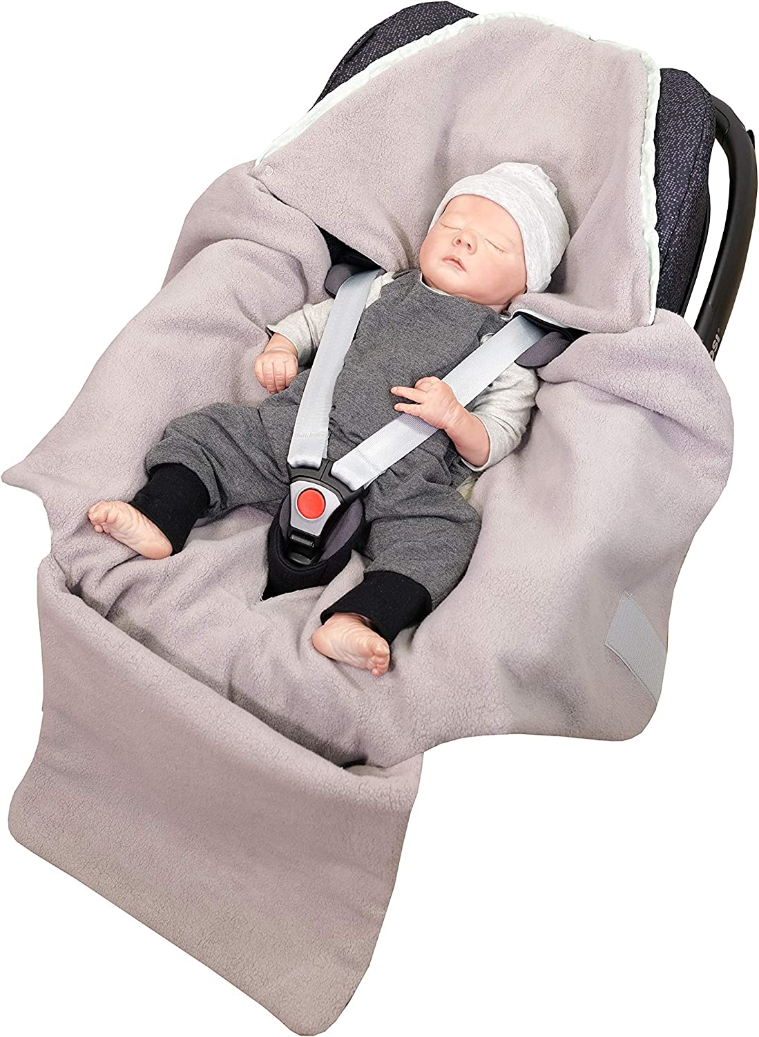 Buggies or Babycarriers Elephants Mint Pink 0 to 9 Months ULLENBOOM Baby Wrap for Car Seat I Suitable for Strollers