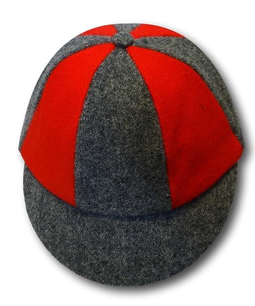 ecb3b23a Albert Prendergast Red & Grey Wool Flannel School Cap: Amazon.co.uk ...