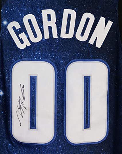detailed look add76 fad29 Aaron Gordon Orlando Magic Signed Autographed Blue City ...