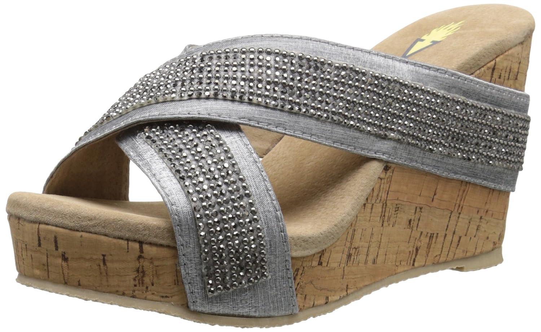 Volatile Women's Blissy Wedge Sandal B012D5VWQU 7 B(M) US|Silver