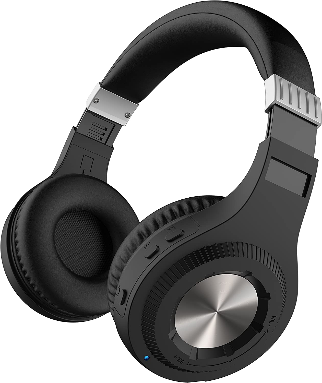 Sharper Image SBT561GY Bluetooth Wireless Headphones with On-Ear Volume Dial, Built-In Microphone, Grey