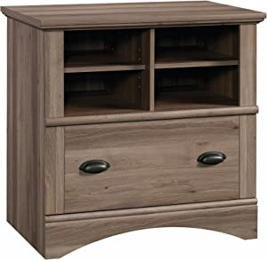 "Sauder 422112 Harbor View Lateral File, L: 31.97"" x W: 21.18"" x H: 31.02"", Salt Oak finish"