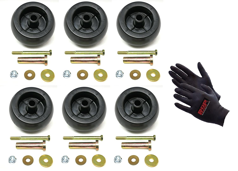 The ROP Shop (6) Deck Wheel/Roller Kits for Exmark Viking Lazer Z Toro Groundsmaster Zero Turn Mower