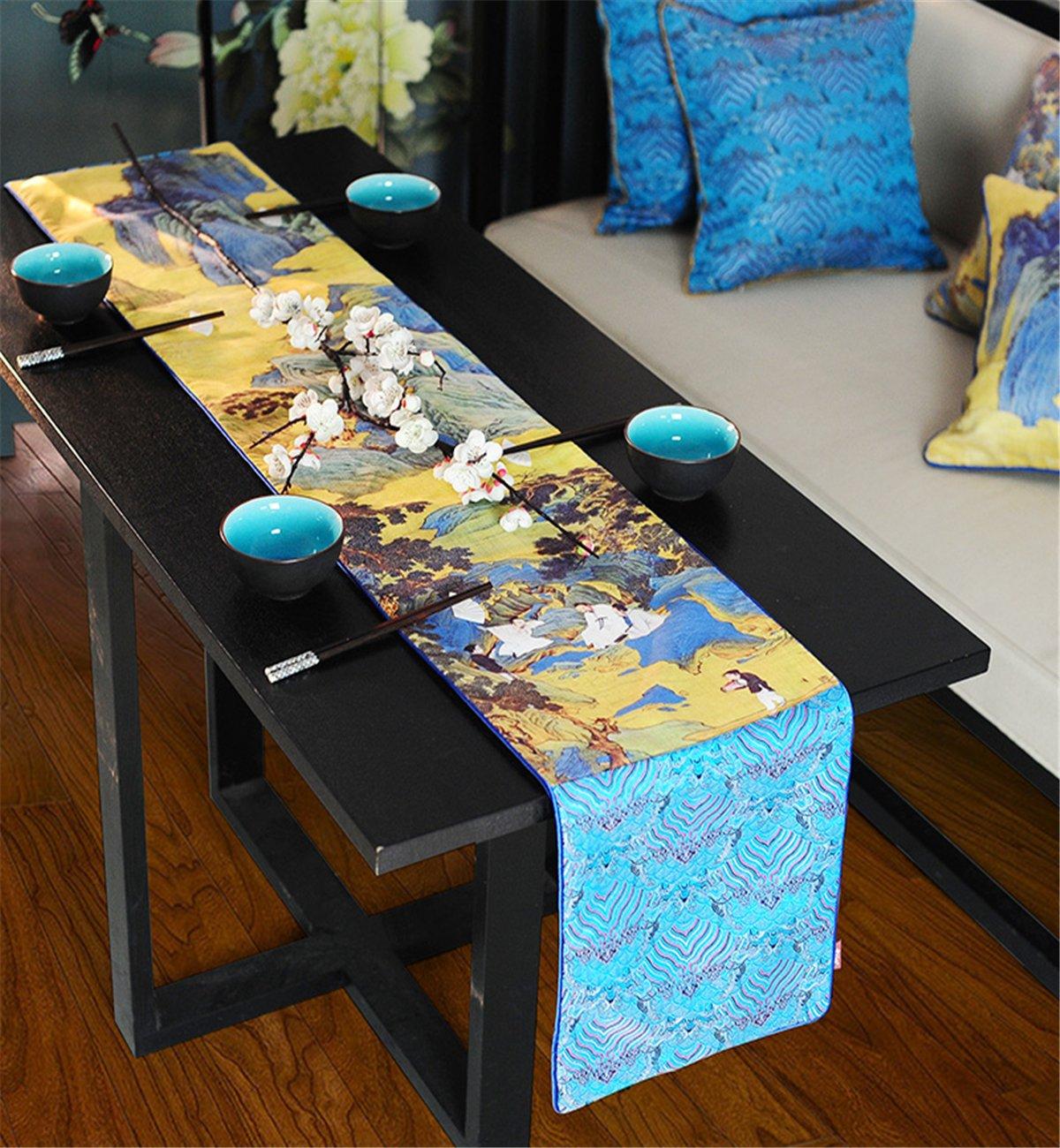 Sucastle® 33x207cm+4xTischset Tuch Tischläufer Hochzeit Tischband Tischband Tischband ,abwaschbar (Farbe wählbar),Meterware,Tischwäsche,stoffähnliches Vlies, Party, Catering , Vereinsfeier ,Geburtstag 15001a