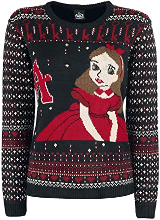 Alice In Wonderland Alice Christmas Sweater Knit Sweater Multicolour
