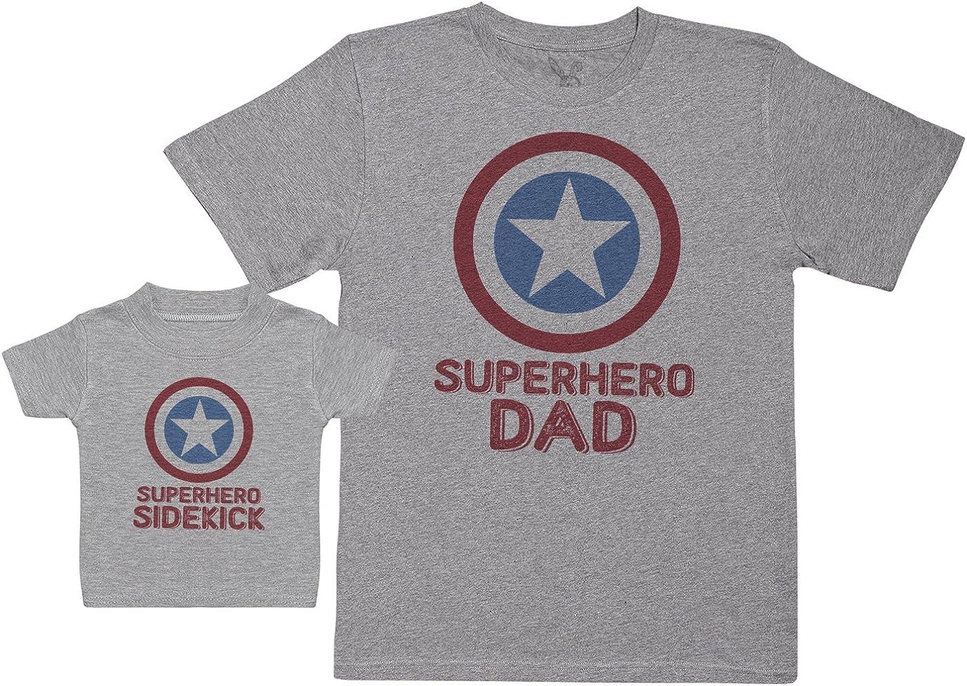 Baby Bunny Superhero Sidekick - Regalo para Padres y bebés en un Camiseta para bebés y una Camiseta de Hombre a Juego