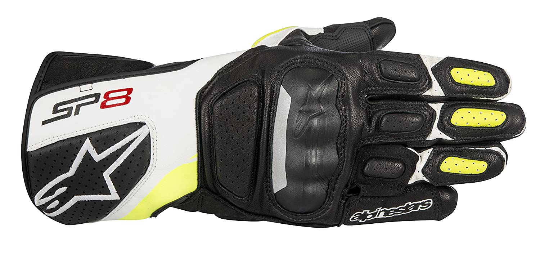 L Alpinestars Gants moto Sp-8 V2 Gloves Black White Yellow Fluo Noir//Blanc//Jaune