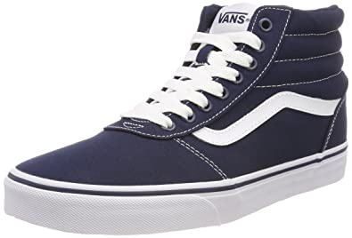 Vans Herren Ward HI Canvas Hohe Sneaker, Blau Dress Blues/White Jy3, EU