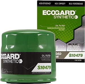 ECOGARD S10479 Premium Spin-On Engine Oil Filter for Synthetic Oil Fits Hyundai Sonata 2.4L 1989-2019, Elantra 2.0L 1999-2020, Elantra 1.8L 1993-2016, Accent 1.6L 2001-2019