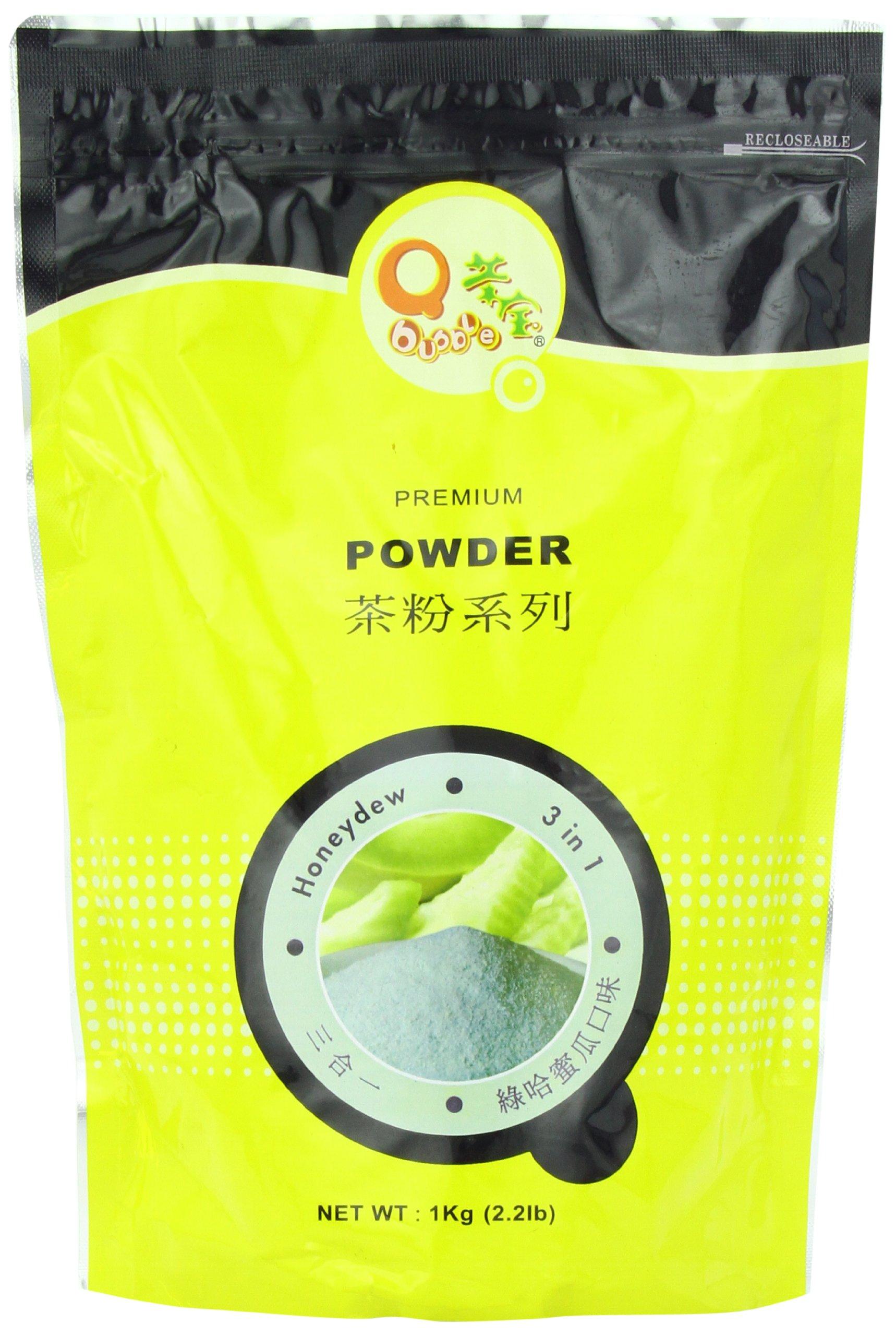 Qbubble Tea Honeydew Powder, Green, 2.2 Pound