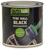 Autotek ATOOTWB250 Tin Tyre Wall Brush-On Paint, 250 ml, Black