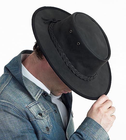 Barmah Australiano Bronco Plegable con un Sombrero - Negro (1060) Patrones  e Instrucciones para Coser 56 cm 34bd2602ba5