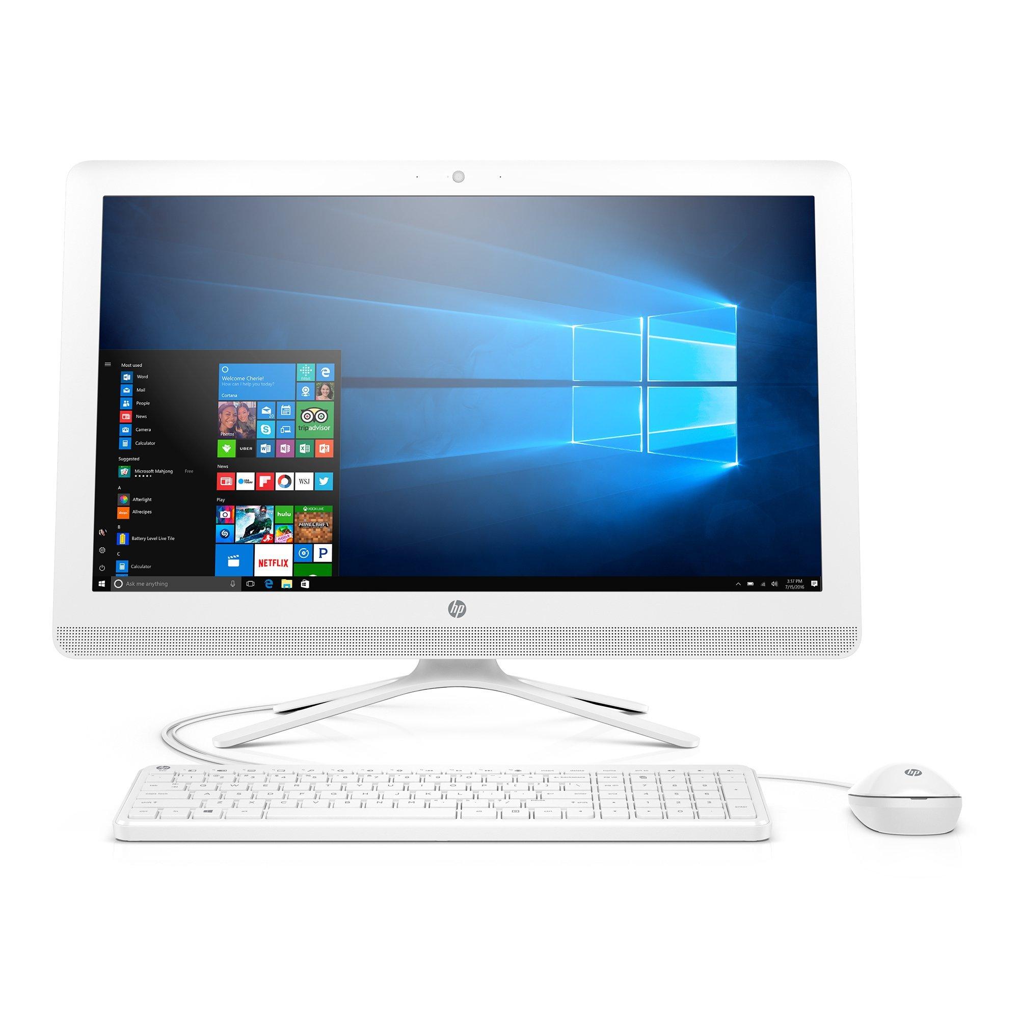 HP 23-inch All-in-One Computer, Intel Pentium J4205, 8GB RAM, 1TB hard drive,  Windows 10 (24-g216, White)