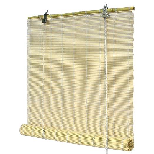 Flairdeco Bambusrollo Bambus Natur Amazon De Kuche Haushalt