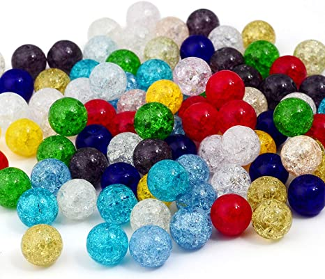 50 x 2-Tone Glass Beads 6mm Various Colours Available Round