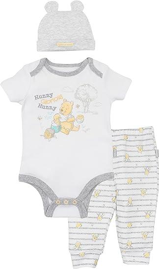NEW 0-3 Months Tu 2-Piece Baby Boys WINNIE THE POOH Cotton Dungaree Set