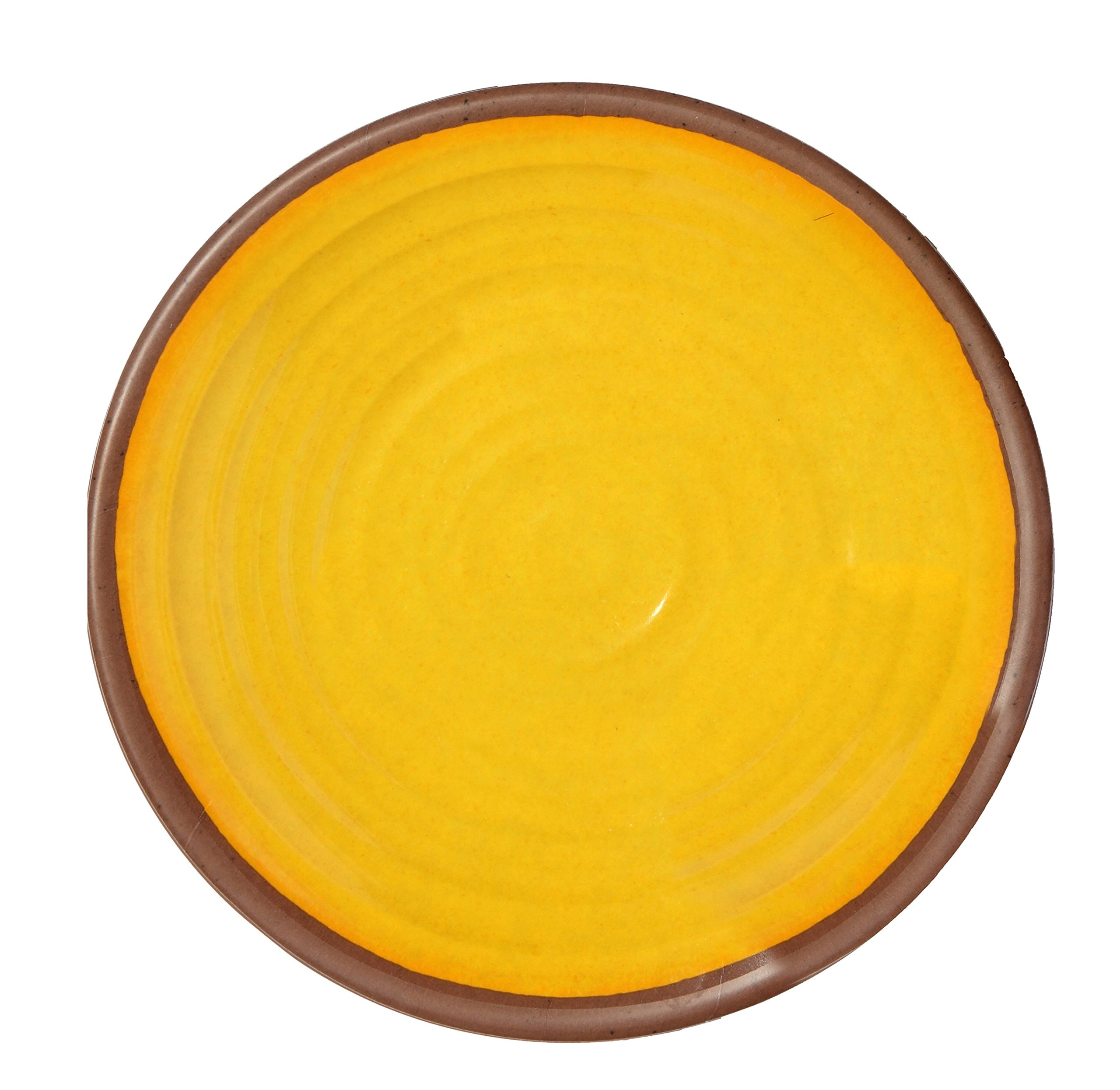 Melange 36-Piece 100% Melamine Dinner Plate Set (Clay Collection)   Shatter-Proof and Chip-Resistant Melamine Dinner Plates   Color Yellow
