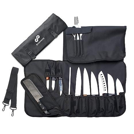 Amazon.com: Bolsa para cuchillos (14 ranuras) para 10 ...