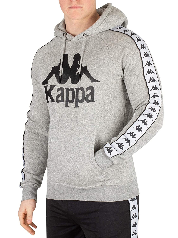 Kappa pour des Hommes Banda Hurtado Pull À Capuche, Gris