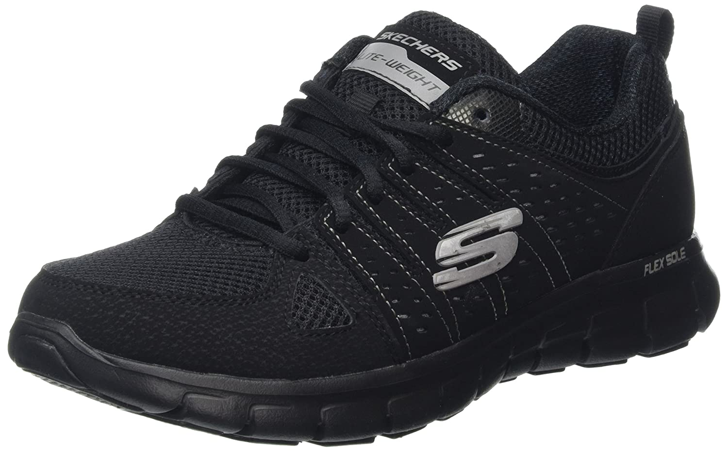 Skechers Sport Women's Synergy Look Book Fashion Sneaker B01LTB6E1W 6.5 C/D US|Black