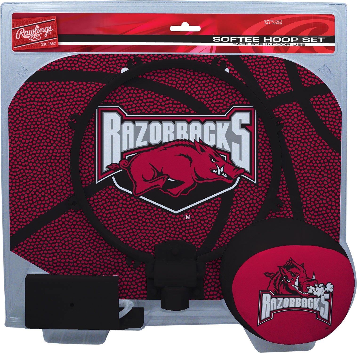 NCAA Arkansas Razorbacks Kids Slam Dunk Hoop Set, Red, Small