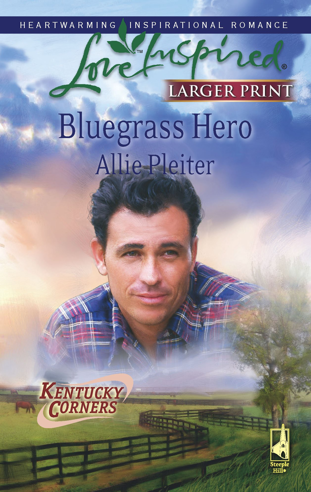 Read Online Bluegrass Hero (Kentucky Corners Series, Book 1) (Larger Print Love Inspired #458) pdf