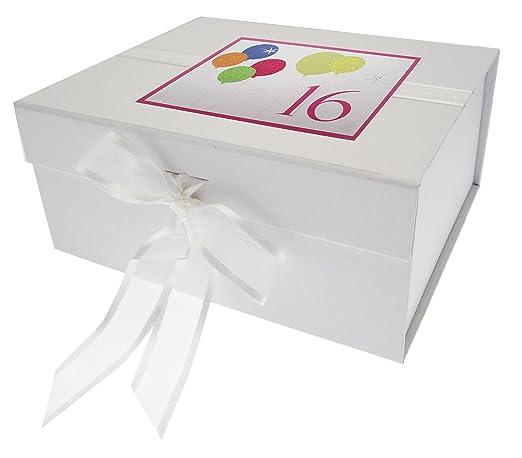 White Cotton Cards - Caja de Recuerdo de 16º cumpleaños con ...