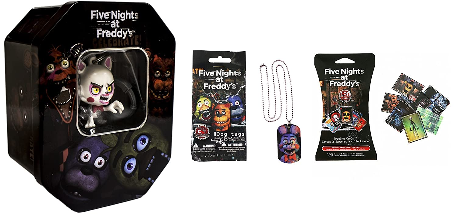 Amazon.com: U.C.C. Distributing Five Nights at Freddys Exclusive Holiday Collectors Tin Set of All 4 Styles Mangle , Bonnie , Foxy & Freddy: Toys & Games