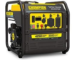 Champion Power Equipment 200954 4250-Watt RV Ready Open Frame Inverter Generator, Quiet Technology