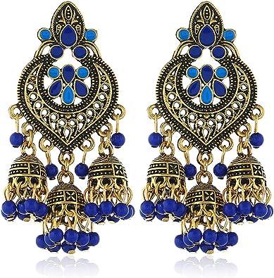 Fashion big resin flower dangle drop Earrings Bohemia Jewelry Accessories Vintage Ethnic Crystal Earrings