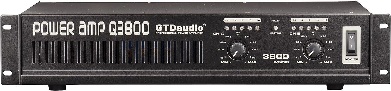GTD Audio 2 Channel 3800 Watts 2U Stereo Professional Power Amplifier AMP