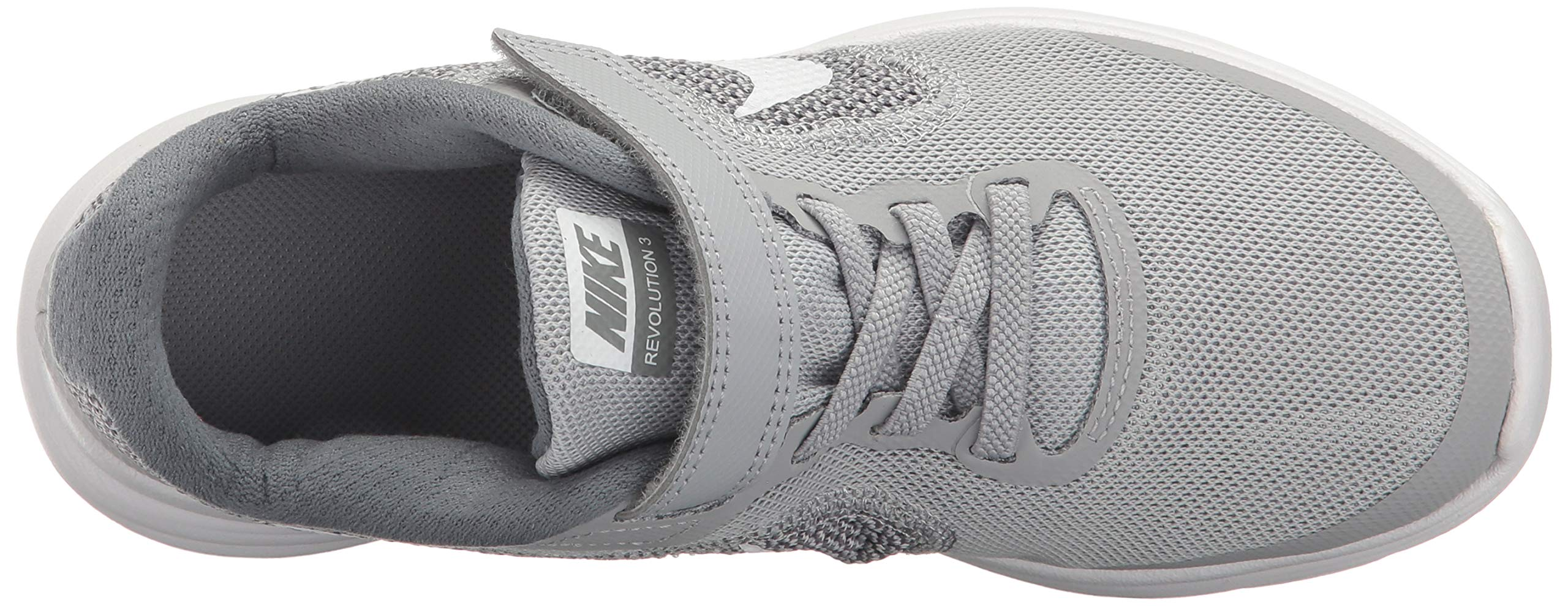 NIKE Kids' Revolution 3 (Psv) Running-Shoes, Wolf Grey/White/Cool Grey, 1 M US Little Kid by Nike (Image #7)