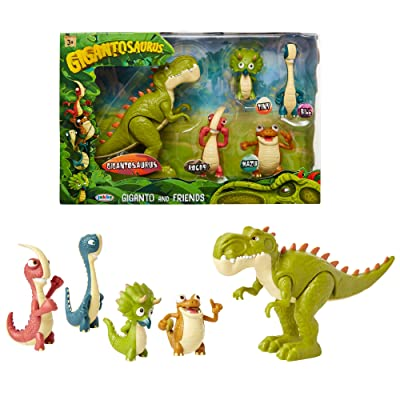 "Gigantosaurus Figures Giganto & Friends Toy Action Figures, Includes: Giganto, Mazu, Bill, Tiny & Rocky – Articulated Characters Range from 2.5-5.5"" Tall: Toys & Games"
