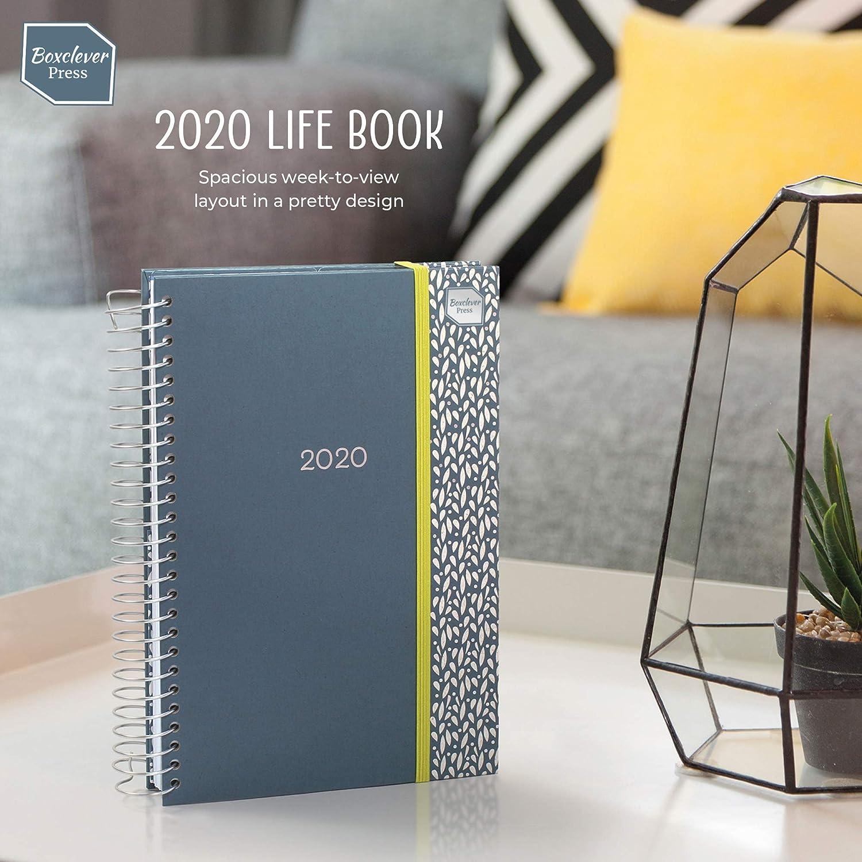 Boxclever Press Life Book agenda 2020. Planificador semanal. Grande espacio cada día con listas de la compra. Agendas escolares 2019 2020. 16 meses ...