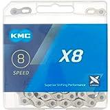 KMC X8.99/X8 Bicycle Chain (1/2 x 3/32-Inch, 116L, Silver)