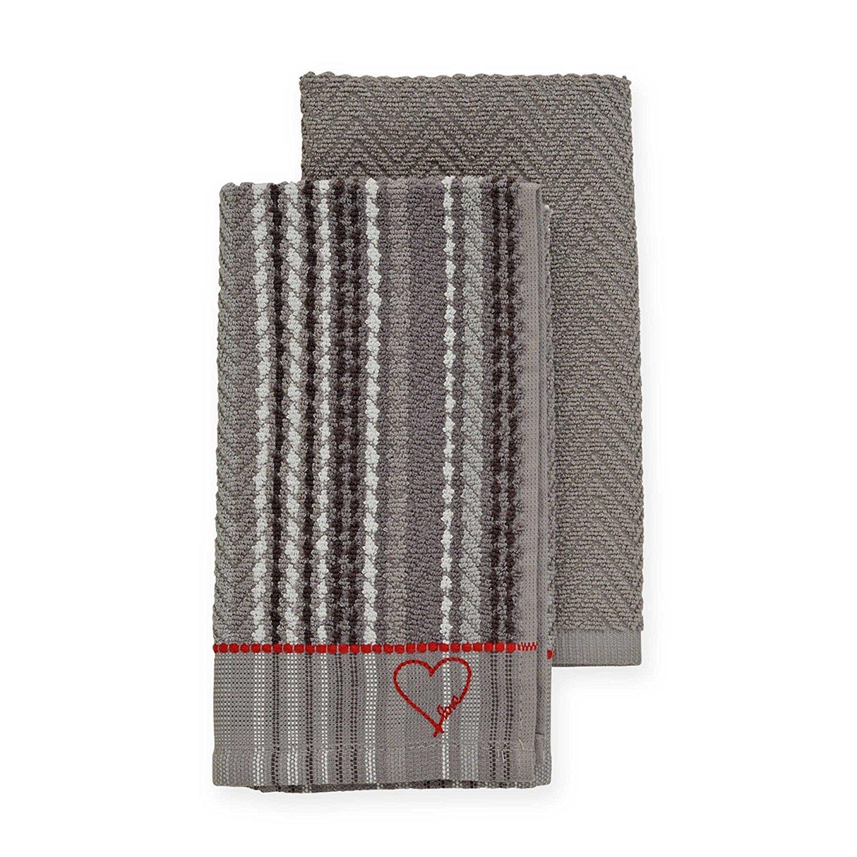 ED Ellen DeGeneres Kitchen Towels in Gray (Set of 2)