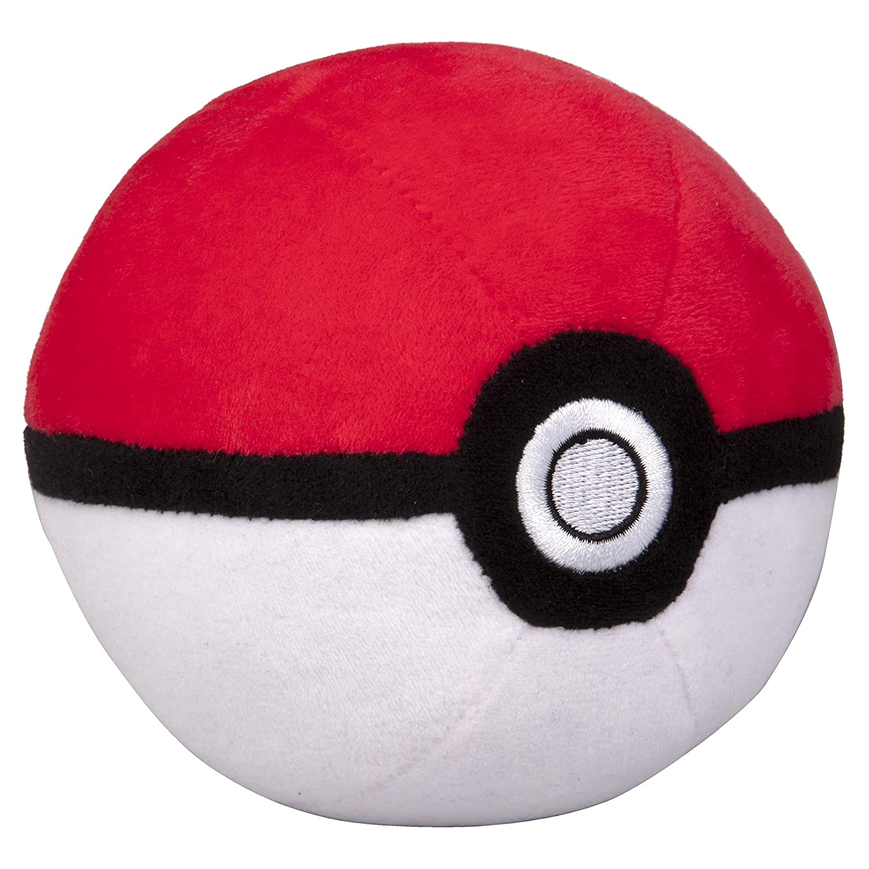 Pokémon 4' Pokéball Plush - Soft Stuffed Poké Ball with Weighted Bottom