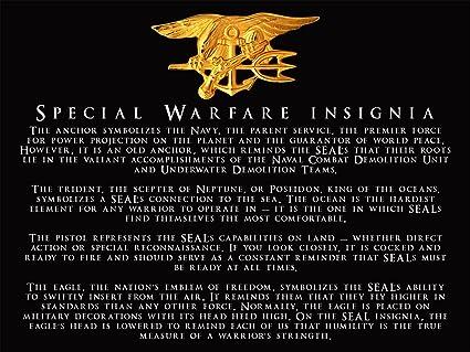 Amazon Navy Seals Poster Special Warfare Insignia Navy Seal