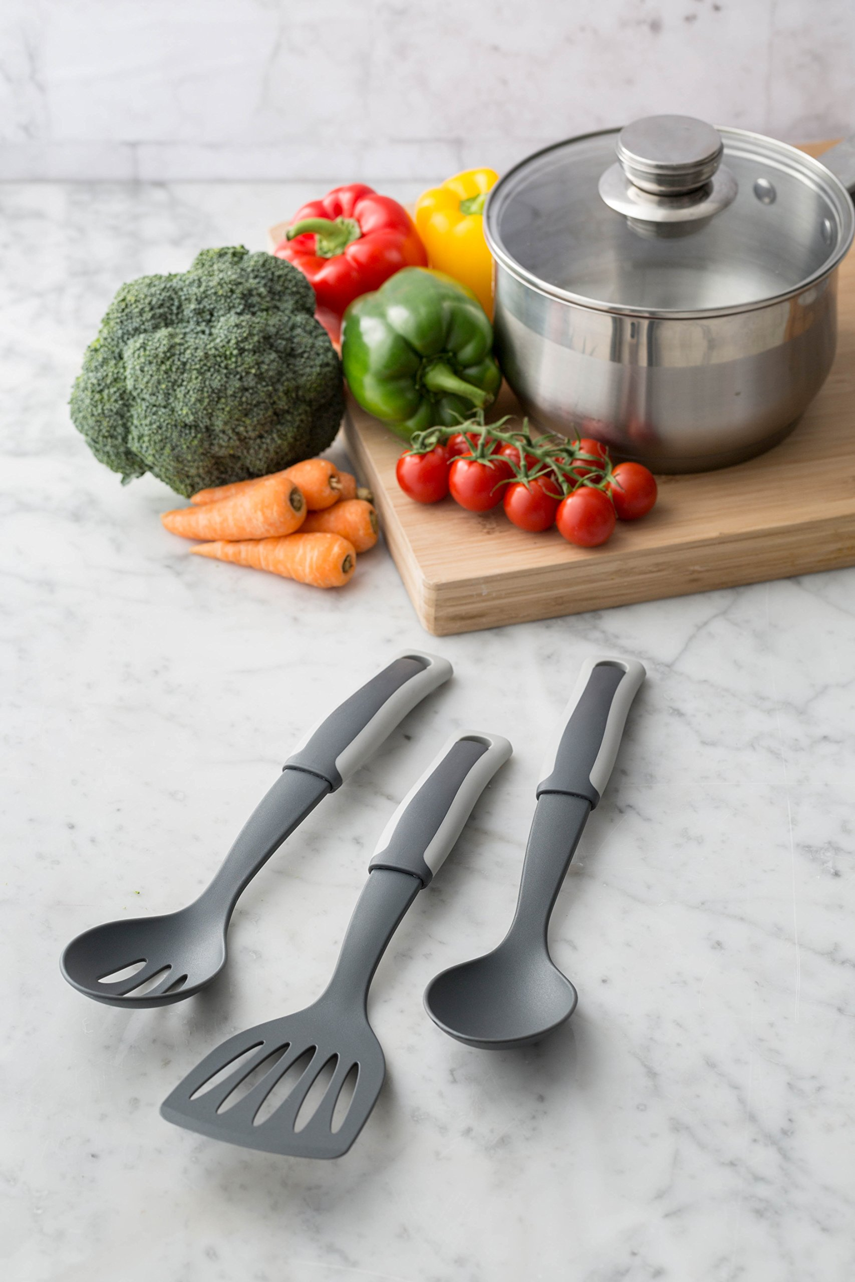 Typhoon Two Tone Collection Grey Nylon Masher, Ideal for Non-stick Cookware, Soft-grip Handle, Odor and Stain Resistant, Hanging Loop for Easy Storage by Typhoon (Image #4)