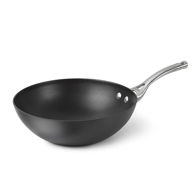 Calphalon Contemporary Hard-Anodized Aluminum Nonstick Cookware, Flat-Bottom Wok, 10-inch, Black - 1877054 best wok
